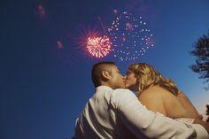 Fireworks! Wedding reception at The Barn at Perona Farms Photo courtesy Anthony Rudick Photography