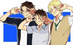 Ace, Sabo, Luffy, ASL, brothers, cool, peace signs; One Piece