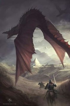 48 new ideas fantasy art battle dragon World Of Fantasy, High Fantasy, Medieval Fantasy, Fantasy Creatures, Mythical Creatures, Dungeons And Dragons, Dragon Artwork, Fantasy Monster, Epic Art