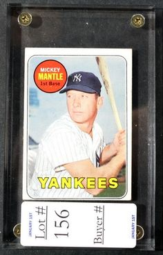 1969 Topps Mickey Mantle; 175.00