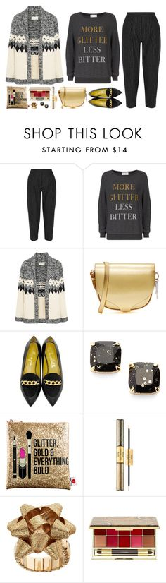 """More Glitter Less Bitter"" by musicfriend1 ❤ liked on Polyvore featuring DKNY, Wildfox, The Great, Sophie Hulme, Charlotte Olympia, Kate Spade, Sephora Collection, tarte and By Terry"