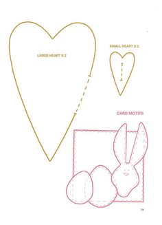 padded hearts tilda