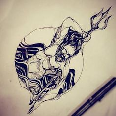 Exceptional Harley Davidson images are readily available on our web pages. Take a look and you wont be sorry you did. Poseidon Tattoo, Poseidon Drawing, Poseidon Symbol, Mini Tattoos, Body Art Tattoos, Sleeve Tattoos, Trident Tattoo, Mythology Tattoos, Neue Tattoos