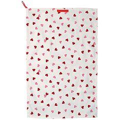 Pink Hearts 2013 Tea Towel