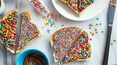 Rainbow Sprinkles Fairy Toast