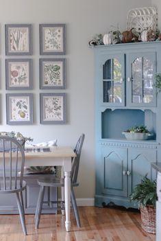 Updating My Kitchen Hutch - Cottage On Bunker Hill Furniture Makeover, Furniture Decor, Home Interior, Interior Design, Kitchen Hutch, Kitchen Island, Cottage Kitchens, Shabby Chic Decor, Cottage Style Decor