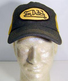 e55e89f6 New Authentic Von Dutch Blue & Yellow Truckers Cap Snapback Mesh Hat Cap  Snapback, Von