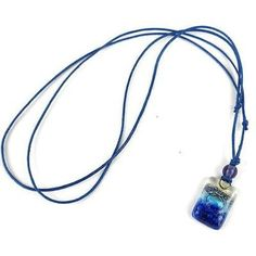Sand and Sea Small Fused Glass Pendant Necklace Handmade and Fair Trade