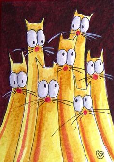 'Crowded House' by Stressie Cat