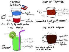 Superhero Cocktailrezepte im Marvel Avenger Style