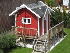 Kinderspielhaus Bauplan Spielhaus Stelzenhaus Terrasse Schwedenhaus Garten Haus