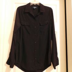 Blouse Long sleeve blouse. Longer on the back Old Navy Tops Button Down Shirts