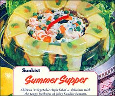 Vegetable aspic- aka the only reason I bought vintage cookbooks for awhile...