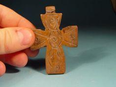 Bone Viking / Byzantine Decorated Cross Crucifix 1200AD