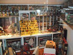 Star Wars Collection Display Star Wars Room, Star Wars Art, House Star, Starwars Toys, Action Figure Display, Hobby Ideas, Star Wars Action Figures, Toy Rooms, Star Wars Collection