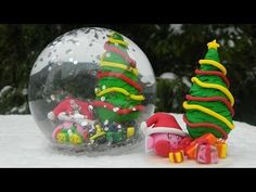Kirby snow globe giveaway + (tutorial) by nerdecrafter Christmas Crafts, Christmas Bulbs, Christmas Items, Xmas, Craft Kits, Craft Projects, Diy For Kids, Crafts For Kids, Clay Tutorials