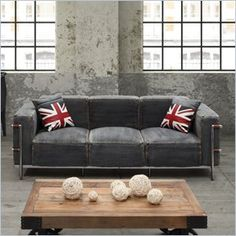 denim sofa. now this is a denim sofa i can get on board with. abc