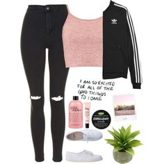 A fashion look from August 2015 by thelonelyheartsclub featuring Boohoo, Topshop, adidas Originals, American Apparel, philosophy y Polaroid Cute Teen Outfits, Teenage Girl Outfits, Cute Comfy Outfits, Girls Fashion Clothes, Sporty Outfits, Teenager Outfits, Teen Fashion Outfits, Outfits For Teens, Stylish Outfits