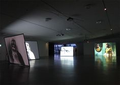 Eye Film Institute in Amsterdam by Delugan Meissl opens with the exhibition Found Footage Museum Exhibition Design, Exhibition Display, Exhibition Space, Design Museum, Projection Installation, Project Place, Museum Displays, Photography Exhibition, Film Institute