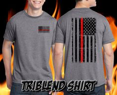 Thin Red Line Firefighter Shirt  Remember by PersonalizedBirthday