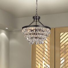 Regina olive bronze 19 wide crystal chandelier pinterest ivana 5 light antique black luxury crystal chandelier mozeypictures Image collections