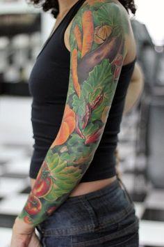 Piękny tatuaż dla weganina