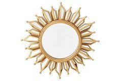 Le Soleil Accent Mirror, Antiqued