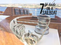 Ever wonder what life is like on living on a sailboat? Here's our 7 Life Hacks You'll Need On a Sailboat~GWS Sailboat Living, Living On A Boat, Boat Organization, Liveaboard Sailboat, Sailboat Interior, Yacht Interior, Life Hacks, Boating Tips, Buy A Boat