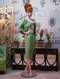 Spring Green Sheath Suit by Bellissimacouture on Etsy