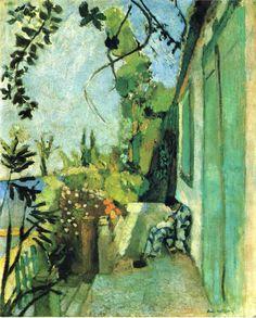 Henri Matisse. La terraza, St. Tropez, 1904. Óleo sobre lienzo. Isabella Stewart Gardner Museum, Boston. WikiPaintings.org