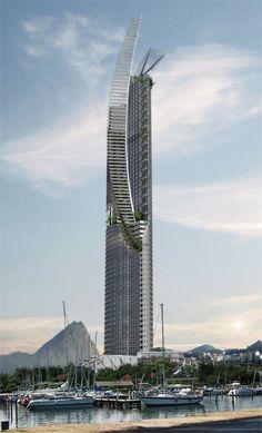 Veleiro do Sul Skyscraper by Enrique Greenwell #rio #brazil #architecture #skyscrapers