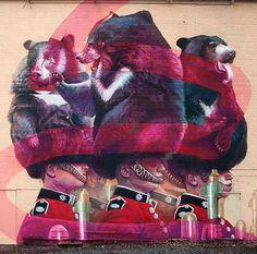 Unique new Street Art from Telmo Miel in Belgium #muralang #graffitiregio #graffitilife #streetartchicago #muralist #streetartistanbul…