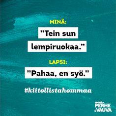 #kiitollistahommaa Vauva.fi Meidän Perhe -lehti Parenting Quotes, Hilarious, Funny, Parents, Dads, Just For You, Instagram, Hilarious Stuff, Funny Parenting