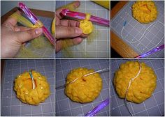 Tutorial for crocheted tulle dish scrubber. I am going to try this - already have the stuff! Crochet Dish Scrubber, Crochet Dishcloths, Knit Or Crochet, Crochet Crafts, Yarn Crafts, Crochet Projects, Free Crochet, Sewing Projects, Dyi Crafts