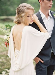 Carol Hannah Kyanite low back wedding gown dress   Autumn Wedding Inspiration at the Mill at Fine Creek by Richmond Virginia Wedding Planner East Made Event Company and Michael and Carina Photography