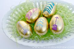 Gold Arrow Easter Eggs - The Cards We Drew