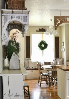 white cottage christmas - Google Search