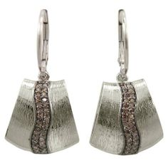 Sterling Silver Brown Diamond Swish Brushed Earrings (1/3 cttw) Amazon Curated Collection. $100.00. Made in China