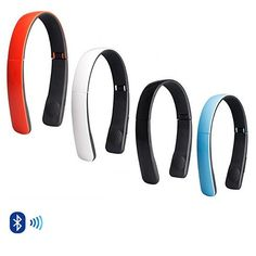 Light Weight and easy to carry folds neatly to fit in your purse or bag. You can connect it to any device with bluetooth. You can even use it to answer phone and make calls with voice commands if you phone supports it. Studio quality sound with portability of a gadget can be found in one package with this Foldable Arch headphones. Comes in Black, White, Blue, Red