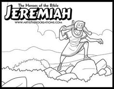 The Heroes of the Bible Coloring Pages: Ezekiel