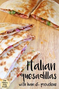 Italian Quesadillas are the perfect back-to-school recipe! Make them for an after school snack for hungry tweens and teens or a weeknight family meal.  #backtoschool #easylunch #lunchideas #kidsinthekitchen #healthylunchideas#healthylunchboxes#bentoboxideas #babyfood #schoollunch #schoollunchideas #health #healthy #healthyrecipes #healthyeating #healthtips