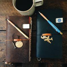 Midori travelers noteboom Agenda Planner, Passion Planner, Planner Journal, Writing Notebook, Journal Notebook, Objet Harry Potter, Midori, Photo Journal, Hobonichi