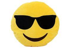 Emoji Round Pillow