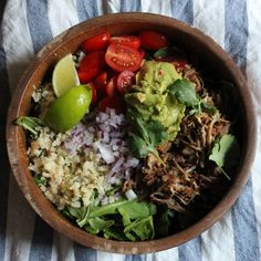 Pork Carnitas with Cilantro-Lime Cauliflower Rice - Paleo and Whole30 compliant!