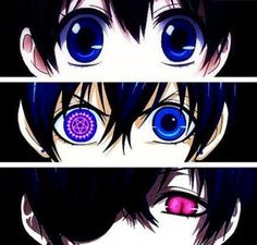 Ciel Phantomhive as his life changes so do his eyes