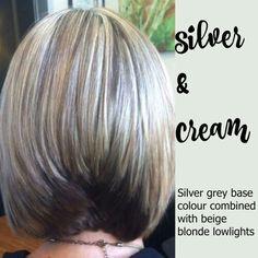 Silver & Cream Hair