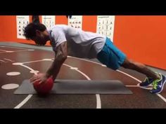 MMA MUSCLES - Push ups with one hand on a ball - YouTube
