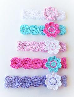BANDEAU CROCHET PATTERN par KerryJayneDesigns bandeau motif fleur bandeau bébé crochet motif au Crochet bandeau motif 8 tailles Usa Pdf