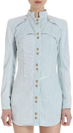 Shirt Dress.  Cool detail