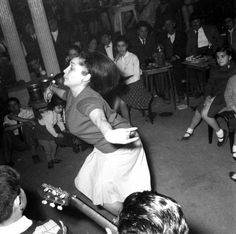 Maruja Garrido dancing at a wedding film of Verdi Gracia. Barcelona, 1965.